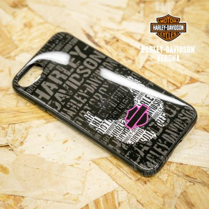 Cover IPhone 7 Harley-Davidson® Shell Text W/Wings Pink