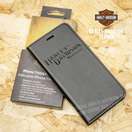 Porta cellulare Harley-Davidson® Black Name iPhone 7 Plus/6S Plus 6 Plus
