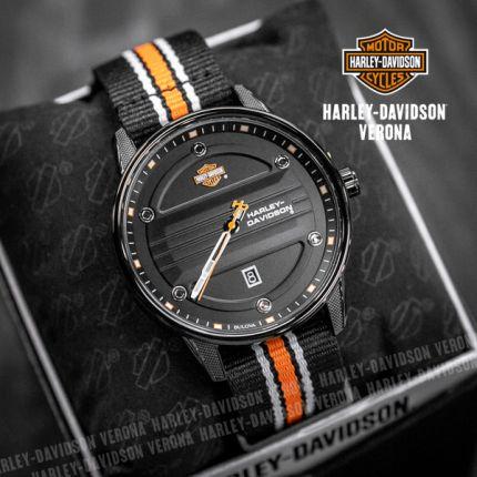 Orologio Harley-Davidson® Black Plating Nato by Bulova