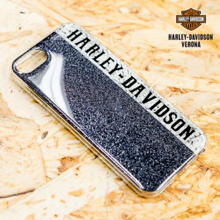 Cover IPhone 8 Harley-Davidson® Blue Glitter
