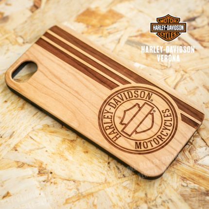 Cover Iphone 7 e 8 Harley-Davidson® in simil legno