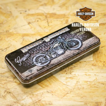 Scatoletta Metallica Portapenne Harley-Davidson® Brick Wall
