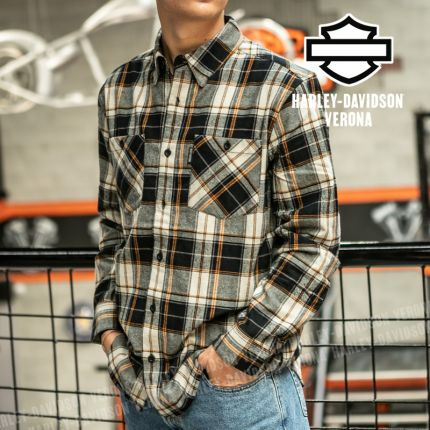 Camicia Harley-Davidson® Font Block Plaid