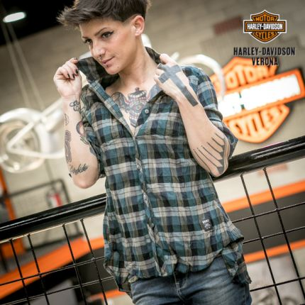 Camicia da donna scozzese Harley-Davidson®