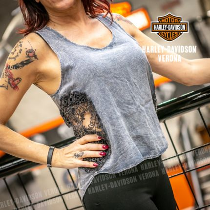 Canotta Harley-Davidson® Crochet Skull