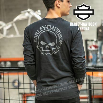 Maglia da Uomo Harley-Davidson® Willi G. Skull Henley