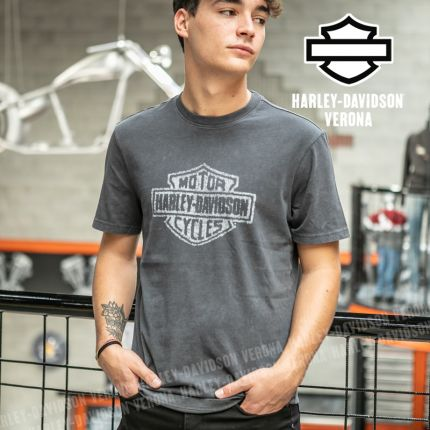 T-Shirt Harley-Davidson® Distressed Bar & Shield