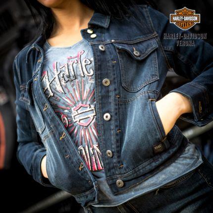Giacca da Donna Harley-Davidson® Denim Dark Wash