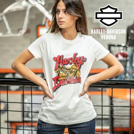 T-Shirt Harley-Davidson® Cursive Font Bike