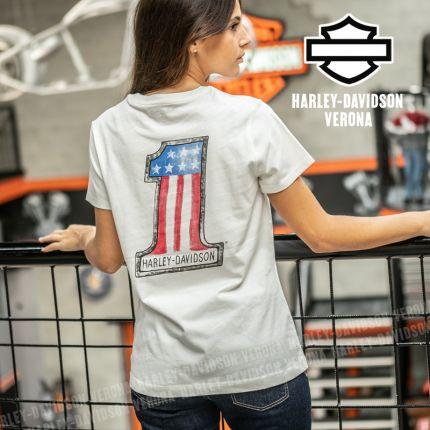 T-Shirt Donna Harley-Davidson® Watercolor #1
