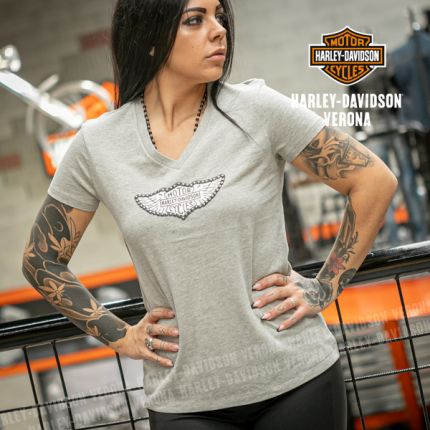 T-Shirt Harley-Davidson® Distressed-Wing Logo