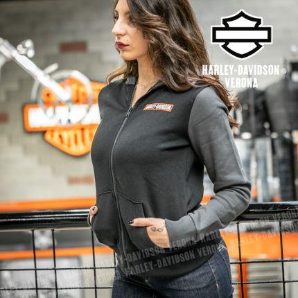 Felpa da Donna Harley-Davidson® Hoodie Knit Grey