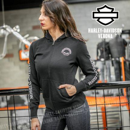 Felpa Harley-Davidson® Zip Skull Black
