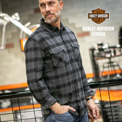 Camicia Harley-Davidson® Tonal Plaid Woven