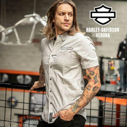 Camicia Harley-Davidson® Retro Woven Grey