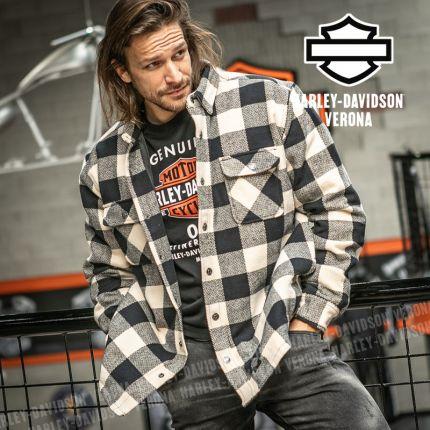 Giacca Camicia Harley-Davidson® Vintage Plaid White