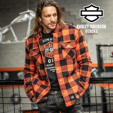 Giacca Camicia Harley-Davidson® Vintage Plaid Orange