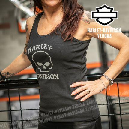 Canotta da Donna Harley-Davidson® Skull Black