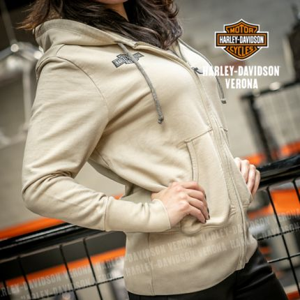 Felpa chiara con cappuccio Harley-Davidson® Embroidered Tiger