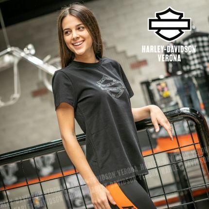T-Shirt Harley-Davidson® Metallic Jacquard Print Logo