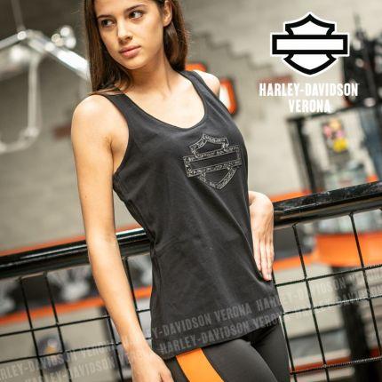Canotta Harley-Davidson® Metallic Jacquard Print Logo