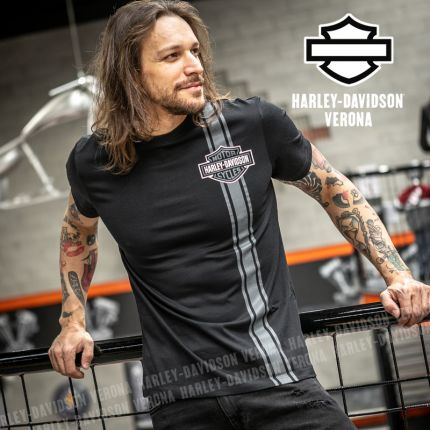 T-Shirt Harley-Davidson® Vertical Stripe B&S