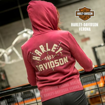 Felpa da Donna Harley-Davidson® Red ''Stud Accent''