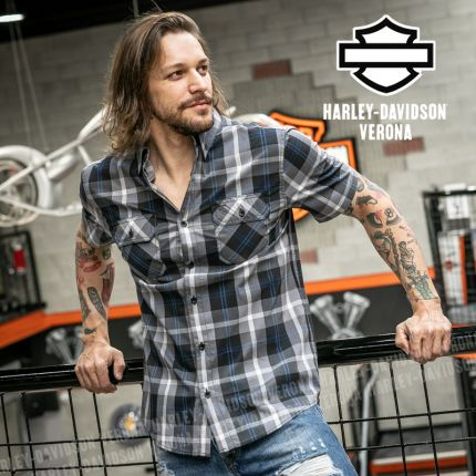 Camicia Harley-Davidson® Block Letter Plaid