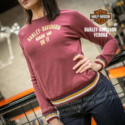 Felpa da Donna Harley-Davidson® ''MADE ME DO IT''