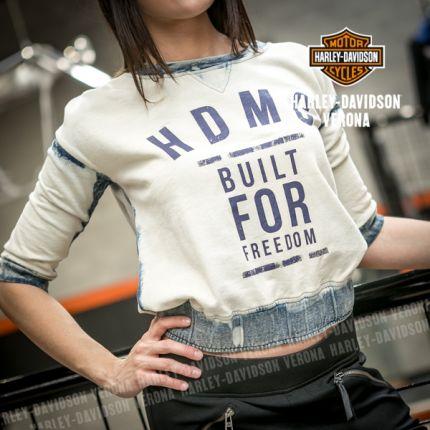 Felpa da Donna Harley-Davidson® HDMC BUILT FOR FREEDOM