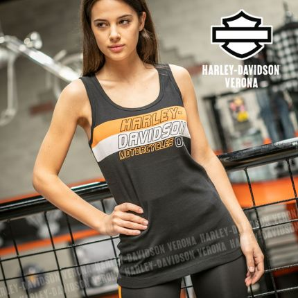 Canotta Harley-Davidson® Colorblock Orange