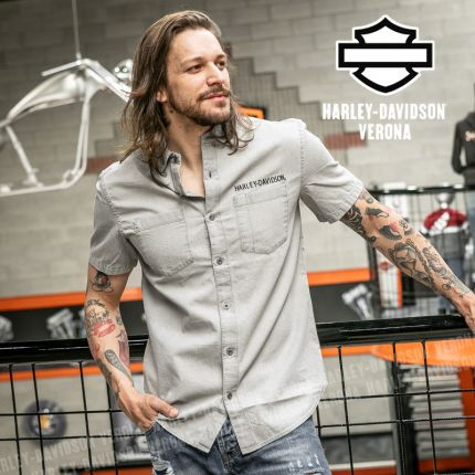 Camicia Harley-Davidson® Bar&Shield Logo Denim