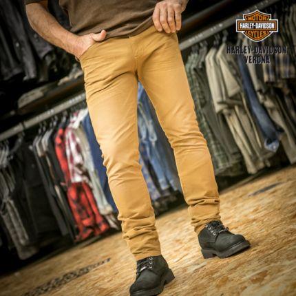 Slim Fit Cotton Canvas Jeans