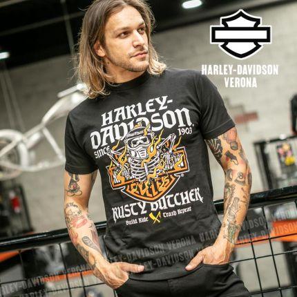 T-Shirt Harley-Davidson® Rusty Butcher Flames