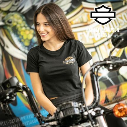 T-Shirt Harley-Davidson® Patina Bar & Shield Logo Cropped