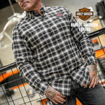 Camicia da Uomo Harley-Davidson® B. HERRINGBONE PLAID
