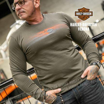 Maglia da Uomo Harley-Davidson® Tee ENGINE Verde Oliva