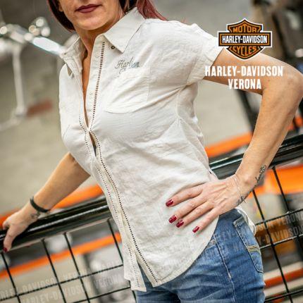Camicia da Donna Harley-Davidson® Open Stitch