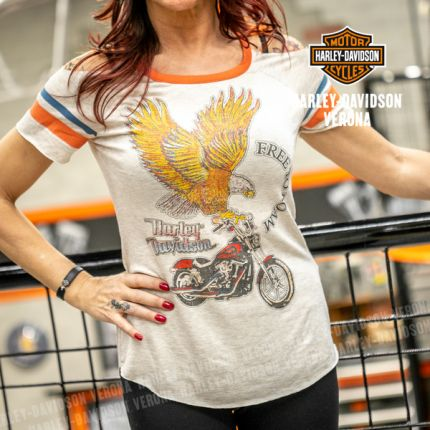 T-Shirt Harley-Davidson® Retro Cold Shoulder