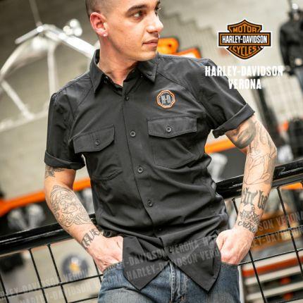 Camicia da Uomo Harley-Davidson® Blk Performance Vented