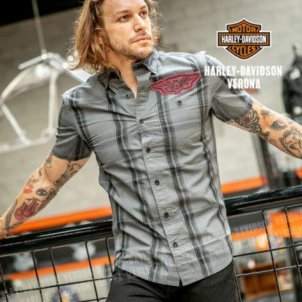 Camicia da Uomo Harley-Davidson® Skull Target