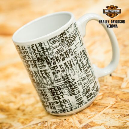 Harley-Davidson® Allover Print Ceramic Mug
