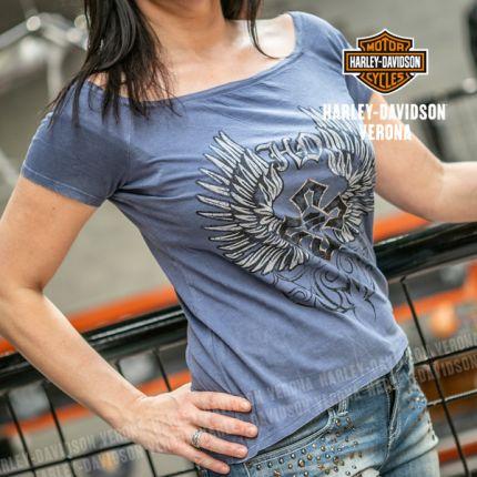 T-Shirt da Donna Harley-Davidson® Winged Cross