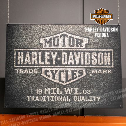 Insegna Harley-Davidson® Leather Texture