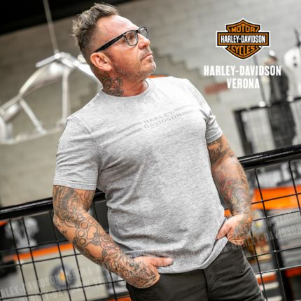 T-Shirt Harley-Davidson® Seameless Graphc, Grigio