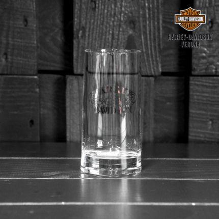Bicchiere di vetro con scritta Harley-Davidson®