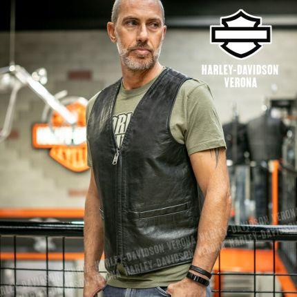 Gilet da Uomo Harley-Davidson® Leather Black