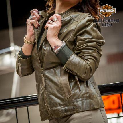 Giacca in pelle Harley-Davidson® Jackson Goatskin Olive