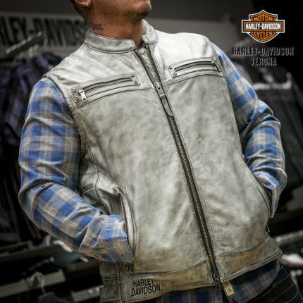 Gilet in pelle Harley-Davidson® Veer Distressed