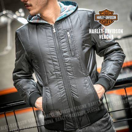 Harley-Davidson® Mens Fleece Hooded Black Casual Jacket